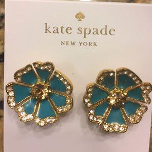 KATE SPADE TEAL EARRINGS